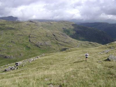Running towards Three Shires Stone