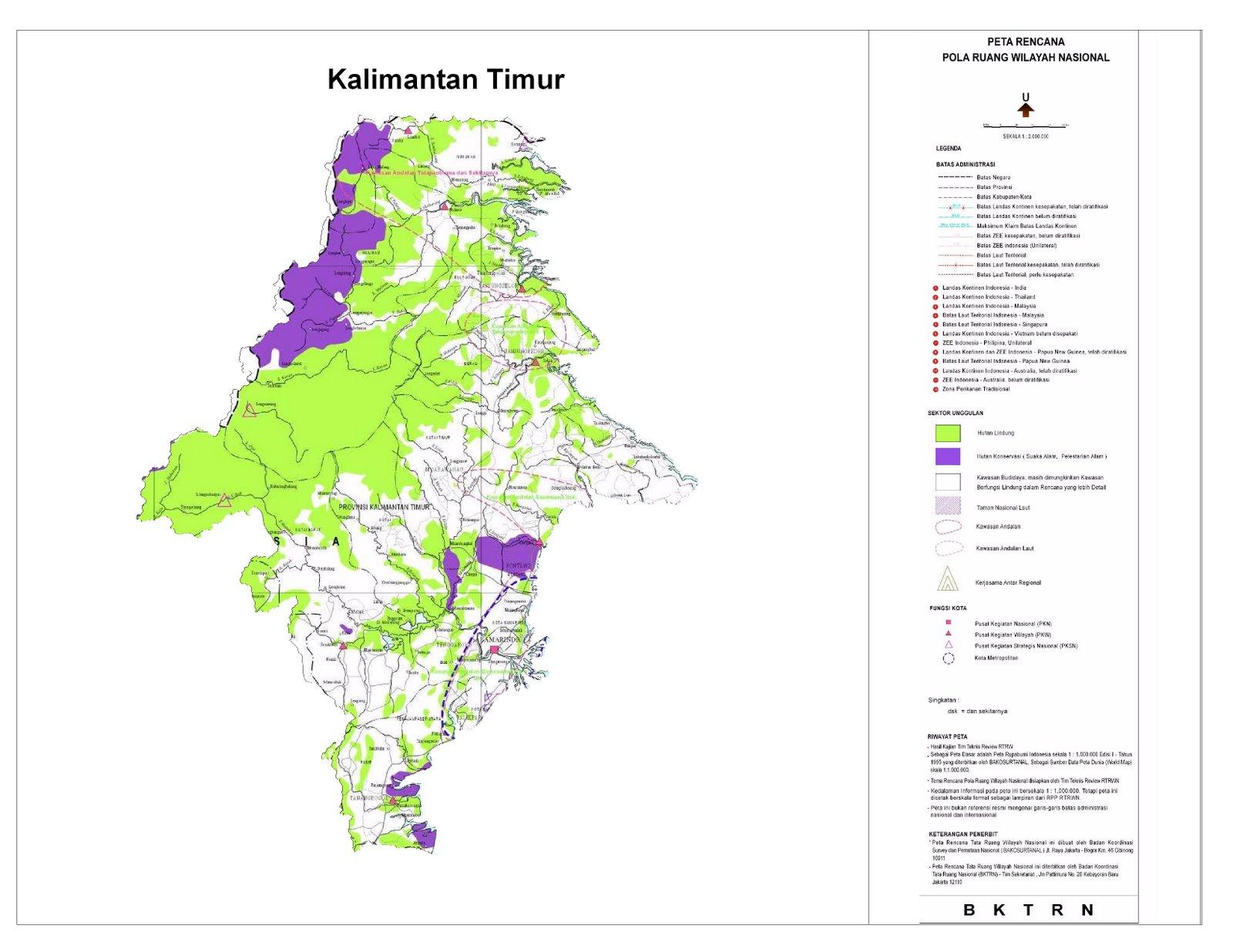 Proyeksi RTWN Terhadap Provinsi Kalimantan Timur