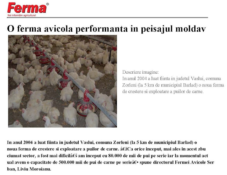O ferm avicol performant n peisajul moldav