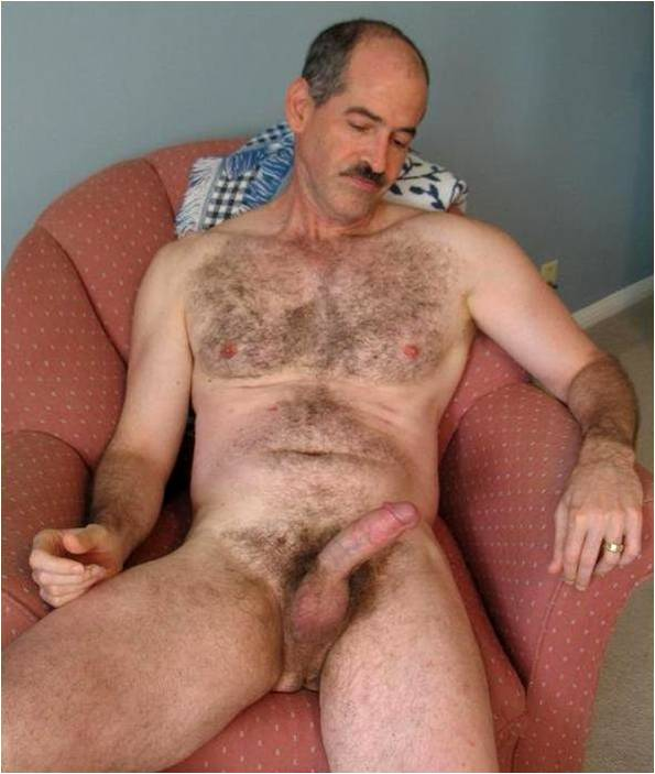 Hairy Uncut Daddy Cock