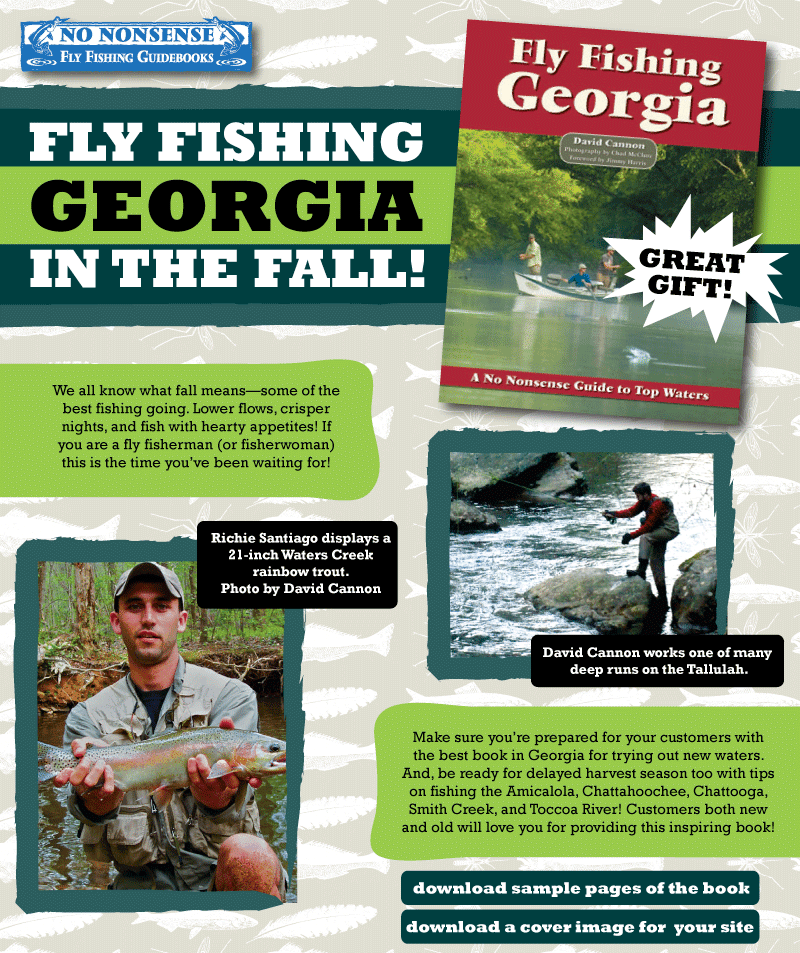 The liars club fly fishing georgia a no nonsense guidebook for Trout fishing in helen ga
