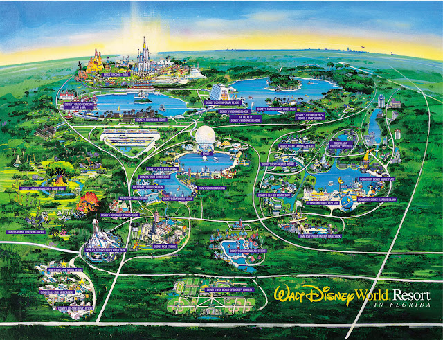 Orlando Florida Disneyland Map