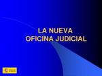 nueva oficina judicial