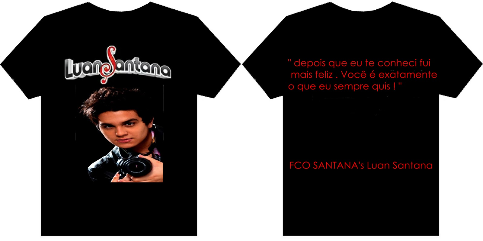 72c442bd75 FCO SANTANA s Luan Santana - DF  Camisetas  -