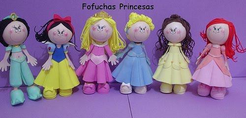Como hacer princesas de fomi - Imagui