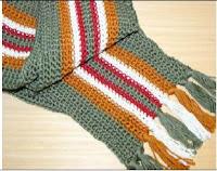 CROCHET SCARF STRIPE PATTERN Crochet Patterns Only