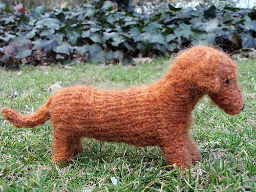 Knitted Dachshund Pattern : Anything Knitted and Crocheted: Well as you know I am a ...