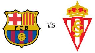 مشاهدة مباراة برشلونة وسبورتنج خيخون بث مباشر