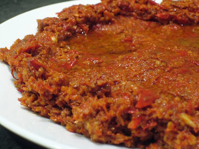 Syrian foodie in london one hundred and one mezze 2 muhammara forumfinder Choice Image