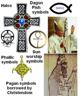 pagan symbols in christinaity