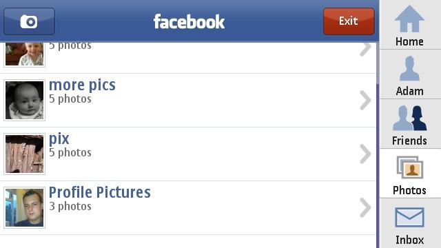 ������ Nokia Facebook Facebook-Application