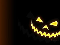 scary pumpkin face wallpaper