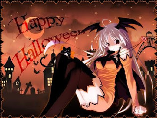 Anime Halloween Girls Wallpaper