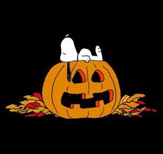 halloween pumpkin with peanuts