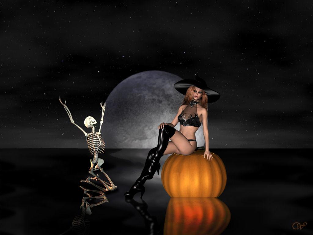 free vintage halloween wallpaper