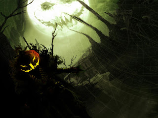 scary halloween moon bats wallpaper