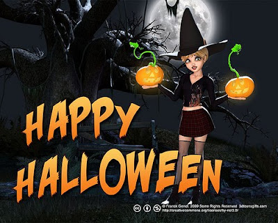 2010 happy halloween wish wallpaper