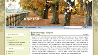 Maple Leaf XML Blogger Template