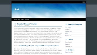 Azul XML Blogger Template