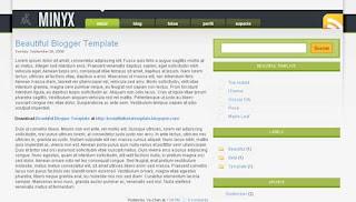 Minyx XML Blogger Template