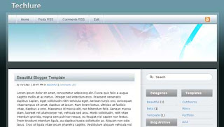 Techlure XML Blogger Template