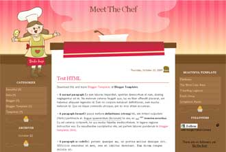 Meet the Chef blogger templates