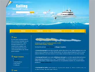 Sailing Blogger Template