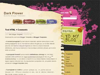 Dark Flower Blogger Template