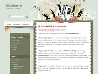 Mic Monster Blogger Template