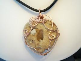 alien beachstone pendant