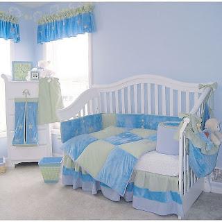Promofever: decoração azul em quarto de bebé