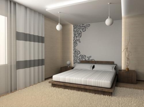 Pequenos detalhes permitem ter um quarto em estilo japonês, muito