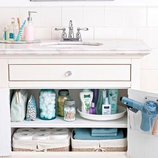 افكار بالصور لترتيب اغراض الحمام organize-master-bath