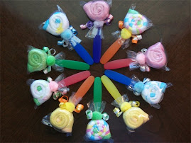 Washcloth Spoon Lollipops