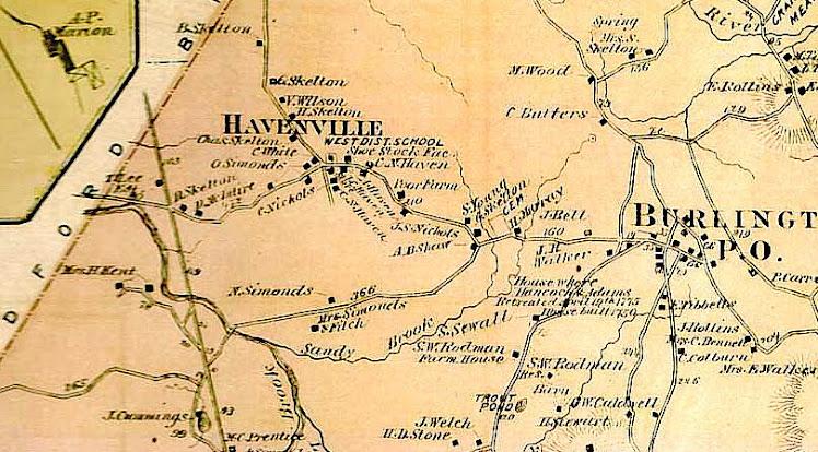 Havenville, Burlington 1875
