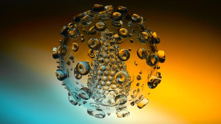 Sculpture de verre (la grippe A comme si vous y étiez) HIV_Sculpture_luke_jerram_0