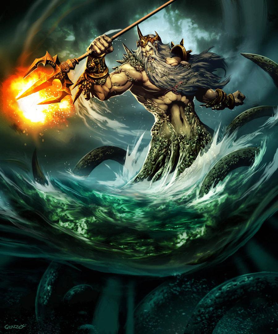 hablemos de criaturas mitologicas! Poseidon_by_GENZOMAN