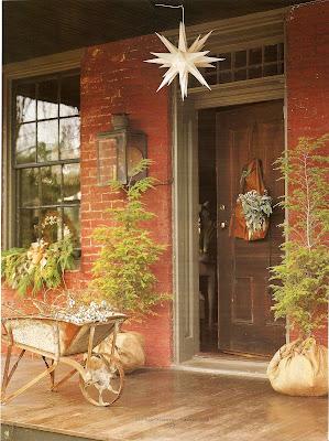 woodland holiday doorstep decorations