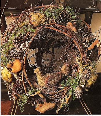 twig, pinecone woodland holiday style wreath