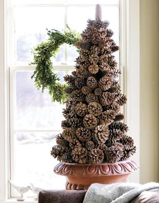 woodland style pinecone christmas tree