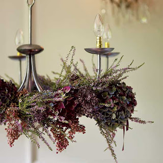 fresh flower holiday chandelier decorations