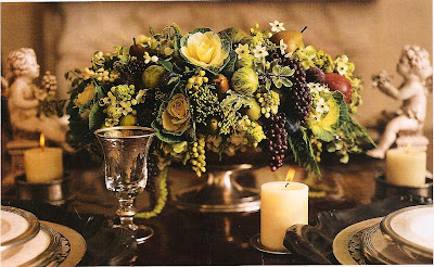 natural holiday style table decorations