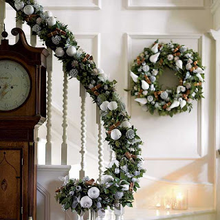 white wintery holiday decorations