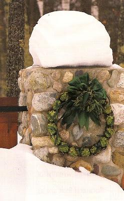 fresh artichoke holiday wreath