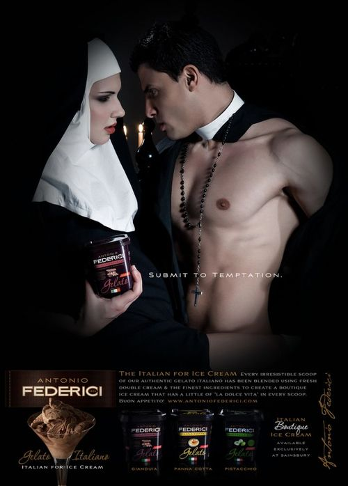 Religion, sex, and ice cream: Antonio Federici gelato banned ads