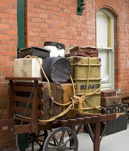 Butiksofie ich liebe alte koffer - Alte koffer dekorieren ...