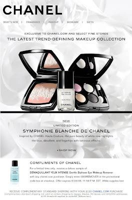 The Beauty Look Book Chanel Symphonie Blanche De Chanel