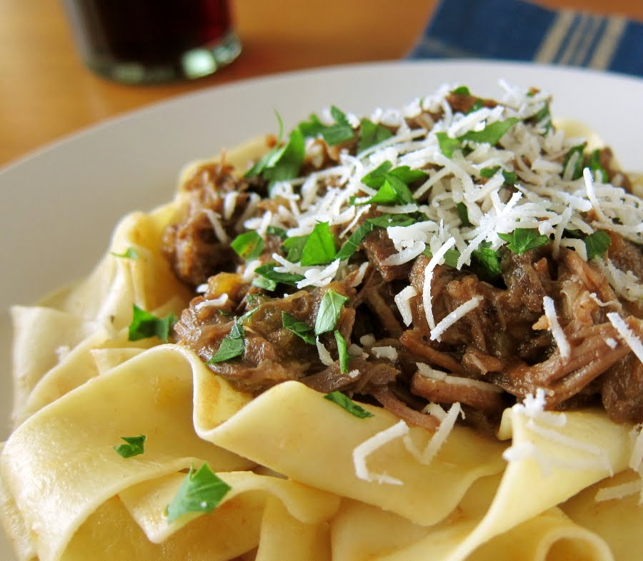 last call for corn: slow-cooked beef short rib ragu with ...
