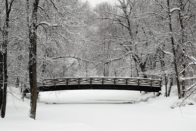 Cedarburg Wisconsin Bridge with snow in winter by Selep Imaging