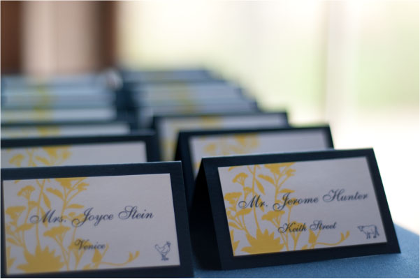 make your own wedding reception dinner place cards liane mccombs